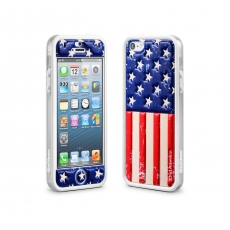 id America - Bumper + Cushi Plus Flag per iPhone 5 - USA