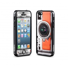 id America - Bumper + Cushi Plus Camera per iPhone 5 - Arancione