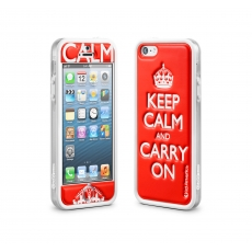 id America - Bumper + Cushi Plus Calm per iPhone 5 - Rosso
