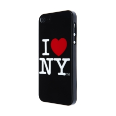 I LOVE NY - Custodia I LOVE NEW YORK per iPhone 5 - Nero