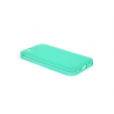 Custodia Glossy Matt Flessibile Trasparente per iPhone 5C - Turchese