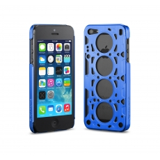id America - Custodia Gasket V8 in Alluminio per iPhone 5/5S - Rally Blue