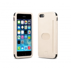 id America - Custodia Wall St. in Pelle per iPhone 5/5S - Bianco