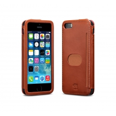 id America - Custodia Wall St. in Pelle per iPhone 5/5S - Marrone