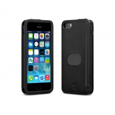 id America - Custodia Wall St. in Pelle per iPhone 5/5S - Nero