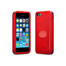 id America - Custodia Wall St. in Pelle per iPhone 5/5S - Rosso