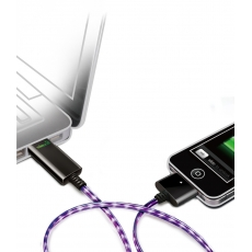 Dexim Visible Green Cavo USB a 30pin - Nero - Luce Viola