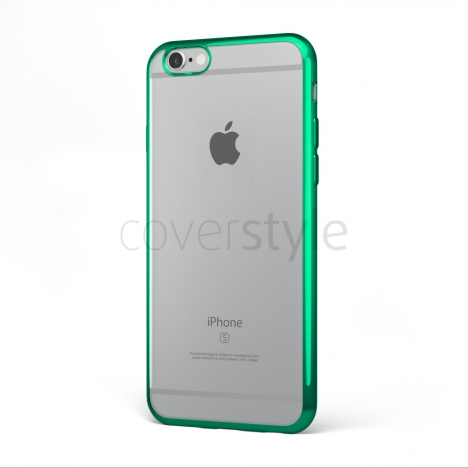 "CoverStyle® - Custodia ChromFlex Flessibile + Bordo Cromato per iPhone 6/6S (4.7"") - Verde"
