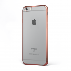 "CoverStyle® - Custodia ChromFlex Flessibile + Bordo Cromato per iPhone 6/6S (4.7"") - Oro Rosa"