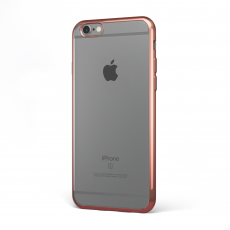 "CoverStyle® - Custodia ChromFlex Flessibile + Bordo Cromato per iPhone 6/6S Plus (5.5"") - Oro Rosa"
