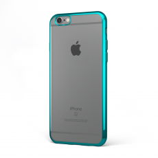 "CoverStyle® - Custodia ChromFlex Flessibile + Bordo Cromato per iPhone 6/6S Plus (5.5"") - Blu"