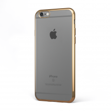 "CoverStyle® - Custodia ChromFlex Flessibile + Bordo Cromato per iPhone 6/6S Plus (5.5"") - Oro"