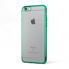 "CoverStyle® - Custodia ChromFlex Flessibile + Bordo Cromato per iPhone 6/6S Plus (5.5"") - Verde"