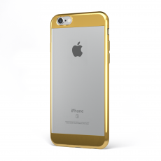 "CoverStyle® - Custodia ChromFlex S Flessibile + Bordo e Bande Cromate per iPhone 6/6S Plus (5.5"") - Oro"