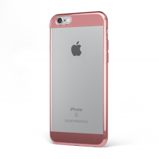 "CoverStyle® - Custodia ChromFlex S Flessibile + Bordo e Bande Cromate per iPhone 6/6S Plus (5.5"") - Oro Rosa"