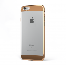 "CoverStyle® - Custodia ChromFlex S Flessibile + Bordo e Bande Cromate per iPhone 6/6S Plus (5.5"") - Bronzo"