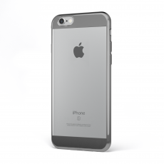"CoverStyle® - Custodia ChromFlex S Flessibile + Bordo e Bande Cromate per iPhone 6/6S Plus (5.5"") - Grigio"