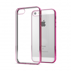 CoverStyle® - Custodia ChromFlex Flessibile + Bordo Cromato per iPhone 5/5S/SE - Rosa