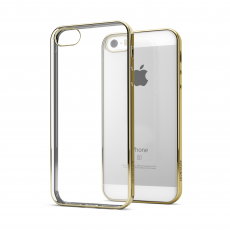 CoverStyle® - Custodia ChromFlex Flessibile + Bordo Cromato per iPhone 5/5S/SE - Oro