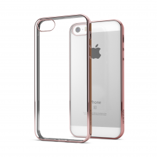 CoverStyle® - Custodia ChromFlex Flessibile + Bordo Cromato per iPhone 5/5S/SE - Oro Rosa