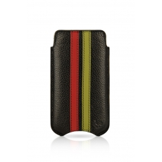 "Beyzacases iPhone 4 SlimLine ""Stripes"" Case - Nero Rosso Verde"