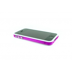 Bumper Bicolore Bianco/Viola Trasparente per iPhone 4/4S - Serie Advanced