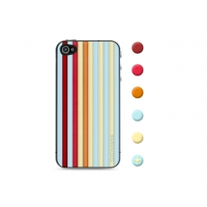 id America - Skin Cushi Stripe per iPhone 4/4S - Beach Red
