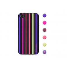 id America - Skin Cushi Stripe per iPhone 4/4S - Jazz Purple