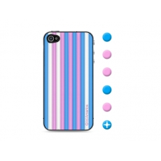id America - Skin Cushi Stripe per iPhone 4/4S - Candy Blue