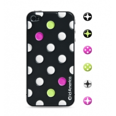 id America - Skin Cushi Dot per iPhone 4/4S - Disco Black