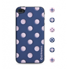 id America - Skin Cushi Dot per iPhone 4/4S - Baby Gray