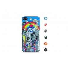 id America - Skin Cushi Original per iPhone 4/4S - Rainbow