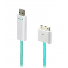 Dexim Visible Green Cavo USB - Bianco - Luce Verde