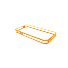Bumper Bicolore Arancione/Trasparente per iPhone 5/5S - Serie Advanced